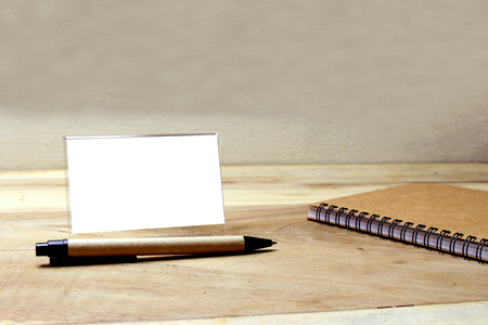 Creative flat lay of workspace office desk with copy space background Archivio Fotografico