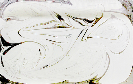 Marble ink pattern texture abstract background. black gold and white tone