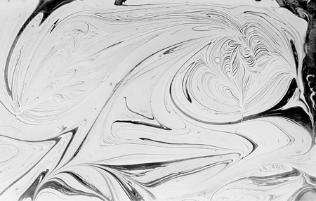 Marble ink pattern texture abstract background. black and white tone