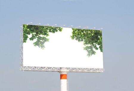 white billboard for advertisement