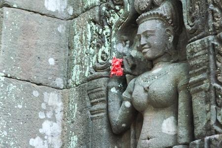 Wat Phou stucco