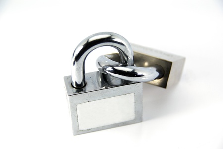 Padlock isolated on white background Stock Photo - 14241452