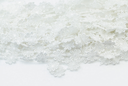 isolated White flowers lace  pattern Stock Photo - 14241536