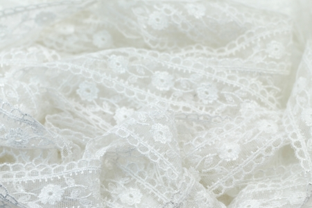 isolated White lace flowers pattern Stock Photo - 14241558