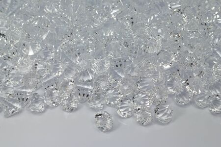 fake gems cut diamond perspective isolated