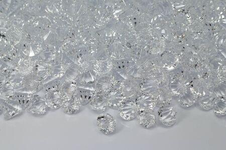 fake diamond: fake gems cut diamond perspective isolated