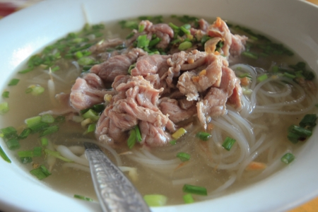 meat noodle Stock Photo