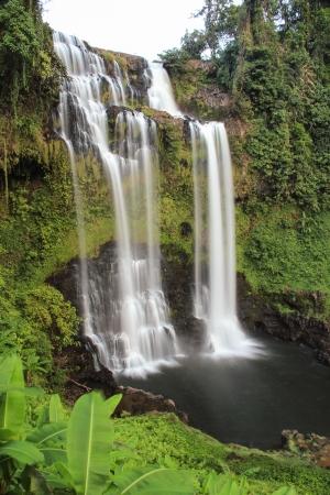 Big Waterfall at South Laos Stock Photo