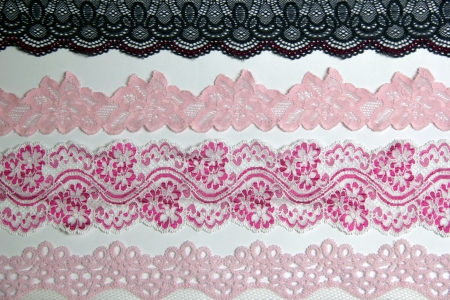 lacework line on white background Stock Photo