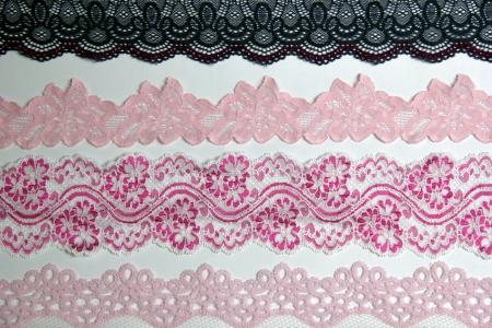 lacework line on white background Standard-Bild