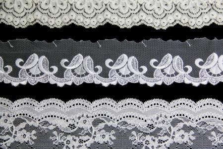 folwer lacework Linie auf schwarzem Hintergrund Standard-Bild