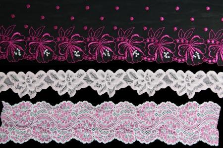 lacework line on black background Stock Photo - 14922607