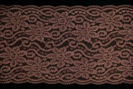 lacework line on black background Stock Photo - 14922724