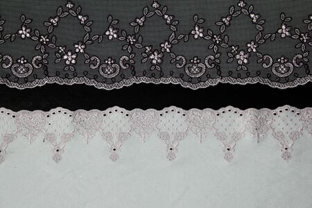 lacework line on black background photo