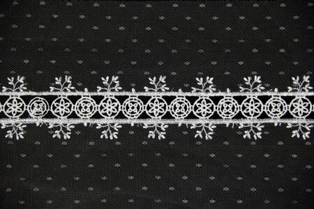 lacework line on black background Stock Photo - 14922806