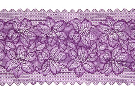 folwer lacework line on white background photo