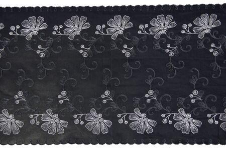 back lacework line on white background photo