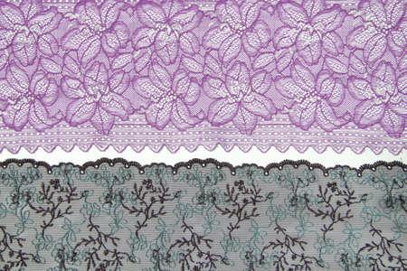 lacework: lacework line on white background Stock Photo