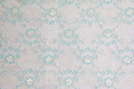 blue lacework line on white background photo