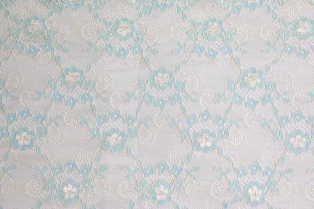 lacework: blue lacework line on white background Stock Photo