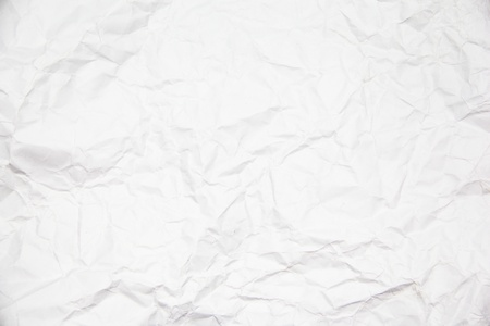Wrinkled crinkly and crumpled paper using as background photo