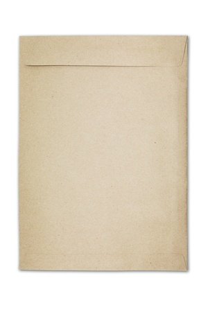 A brown paper folder on white background photo