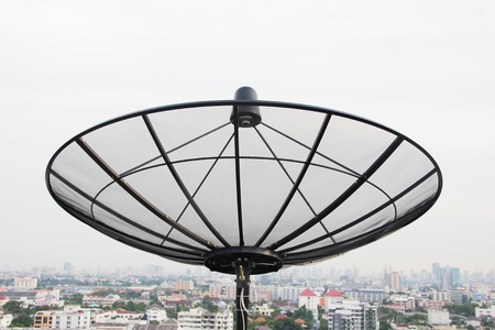 Satellite top of building photo