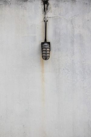 dirty grunge wall and old light photo