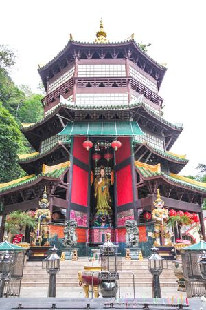 Guan Yin in a big pagoda photo