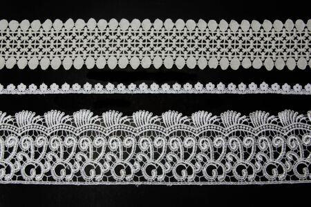 lacework line on black background photo