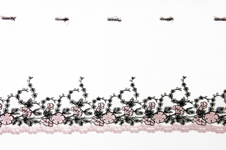 folwer: pink folwer lacework on white background