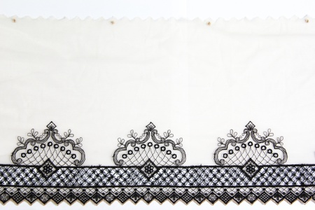 lacework: antique lacework on white background