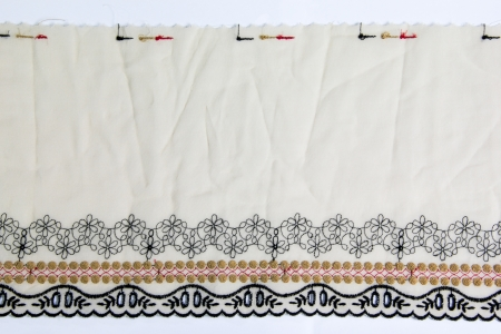 lacework: Beautiful lacework on white background
