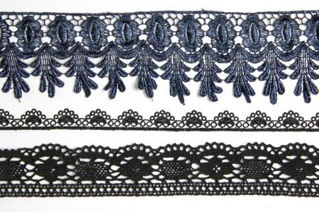 lacework: black lacework on white background