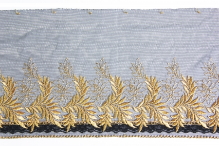 lacework: gold leaf lacework on white background