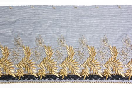 gold leaf lacework on white background