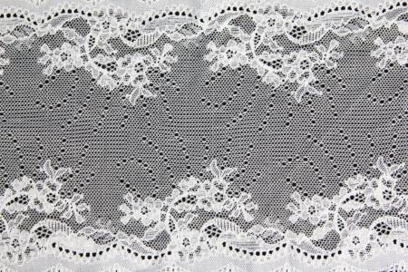 white folwer lacework on black background Stock Photo - 14923229