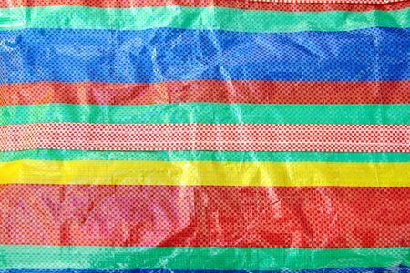 colorful plastic big bag background photo