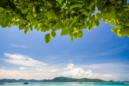 Beautiful Beach at Coral IsIand, Phuket, Thailand Stock Photo