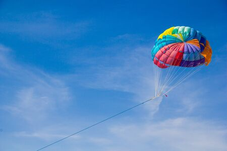 parachute  over the sky photo