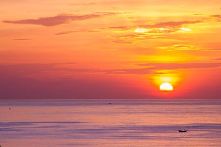 Beautiful sunset above the sea Patong, Phuket, Thailand Stock Photo - 16148585