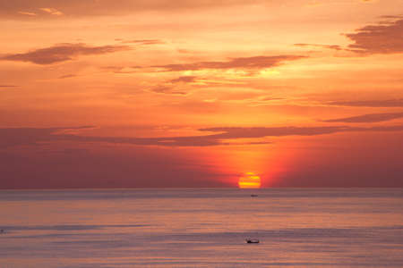 Beautiful sunset above the sea Patong, Phuket, Thailand Stock Photo