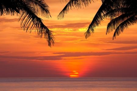 Beautiful sunset above the sea Patong, Phuket, Thailand Stock Photo