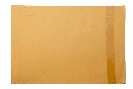 A brown paper folder on white background