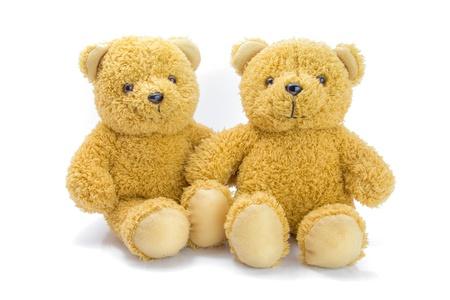 sitting bear toy isolated on white background Stock Photo