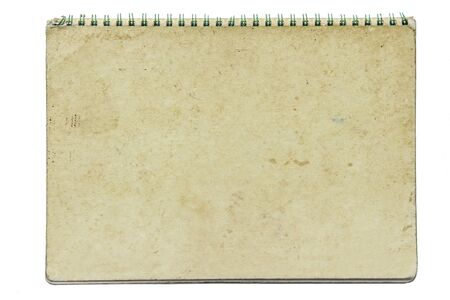 paper notebook right page on black background Stock Photo - 16428409