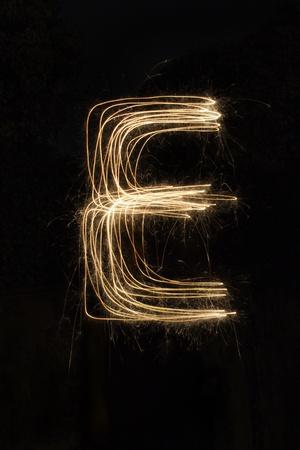 Wunderkerze Feuerwerk Licht Alphabet