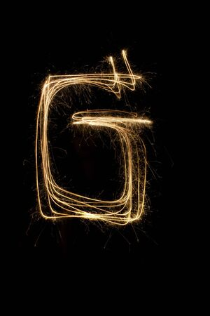 sparkler firework light alphabet Stock Photo - 16427140