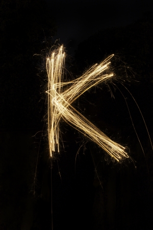 sparkler firework light alphabet photo