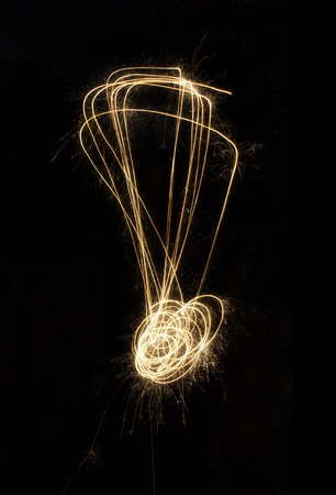 christcross: sparkler firework light alphabet